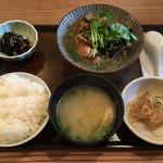 なかよし - 若鶏の柚子おろし煮定食(880円) 2017.5