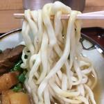 きしもと食堂 - 平打ちちょい縮れ麺