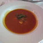 ルース クリス ステーキハウス - 本日のスープ トマトのスープ(蟹肉入り)