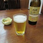 浜町藪そば - ビール小瓶