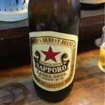 もつ焼 まるい - サッポロ瓶