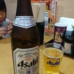 ラーメンウーパイ - 瓶ビール!