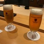 銀座 すし四季 - 銀座 すし四季(すしとき)(東京都中央区銀座)生ビール