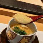 銀座 すし四季 - 銀座 すし四季(すしとき)(東京都中央区銀座)おまかせコース 13,000〜カニの茶碗蒸し