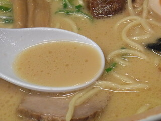らーめん 会 神戸本店 - スープアップ