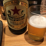 立呑みもんぞう - ビールは サッポロビール☆★赤星チョイス