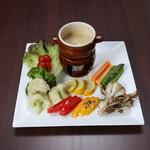 Organic Restaurant Seta - 有機野菜のバーニャカウダ