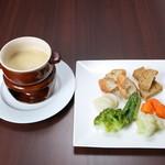Organic Restaurant Seta - セタ風チーズフォンデュ