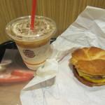 バーガーキング - ソーセージエッグチーズクロワッサンドイッチモーニングセット