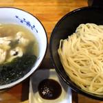 麺哲支店 麺野郎 - 徳島椿泊産鱧と煮若布の塩つけ麺