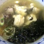 麺哲支店 麺野郎 - 徳島椿泊産鱧と煮若布の塩つけ麺(つけ汁)
