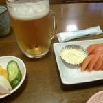 松かど - '17/05/20 晩酌セット(1,150円)‥冷やしトマト