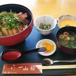お食事処 山桜 - 料理写真:大和肉鶏照焼丼、全体図