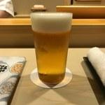 鮨 あらい - 生ビール