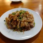 聚福苑 - 晩酌セットの油淋鶏。
