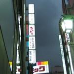 茶茶白雨 - ビル看板です。6階です。