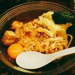 辛麺 真空 - 狼煙(のろし)  860円  麺は175gとのこと。