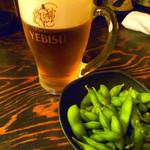 まるいち - ◆生ビールと枝豆