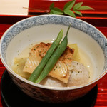 銀座 しのはら - 穴子、賀茂なす新子芋炊き合せ