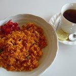 喫茶あおば - 料理写真:チキンピラフセット(2011/02/09撮影)