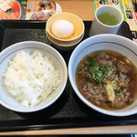 なか卯 - 肉すい朝定食390円