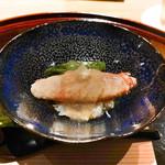 豪龍久保 - 料理写真:アスパラと毛蟹のジュレかけ