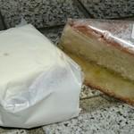ボンパンガトー - キャロットケーキ350円 ヴィクトリアケーキ(ルバーブジャム)350円