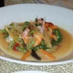 risutoranteshoutwuenthifa-suto - エビと季節野菜のスパ