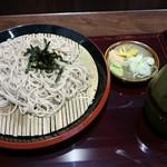 船堀そば 文殊 - ざる、400円