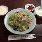 長崎飯店 - 昼食ランチセットの皿うどん