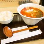67316249 - 生豆腐クリームのえびトマトらーめん ライス