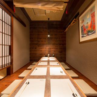 落ち着ける温かい雰囲気の10名〜12名までの個室
