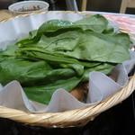 67321731 - 【出汁しゃぶ】野菜盛を鍋に投入