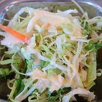 67322180 - レカ 葛西本店 @東葛西 サブジ1種類とチャパティの軽めのセットのサラダ