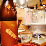 こてつ - 京都の純米吟醸、くし。タレで仕上げた鳥串にマジでよく合う‼︎