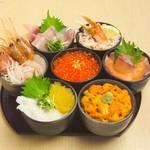 どんぶり茶屋 - 黄金海宝丼 6380円