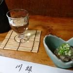67325074 - 十和田の鳩正宗とホンビノス貝の酒蒸し(お通し)