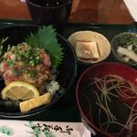 横濱人 - なめろう丼セット980円(税込1058円)