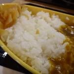 博多カレー研究所 博多とんこつあごだしカレー - ご飯はツヤがあります。