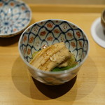 井本 - 穴子・万願寺唐辛子・賀茂茄子の煮物