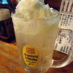 鳥椿 - シャリシャリの冷凍レモンがのってます。
