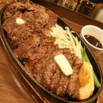 1ポンドのステーキハンバーグタケル - ハラミステーキ200g(1,000円)+替え肉『馬肉ステーキ』(660円)2017年5月