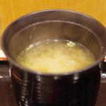 つきじ芳野吉弥 - 味噌汁