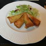 洋凡料理 NAKAMURA - 海老のパートフィーロ包みサラダ添え