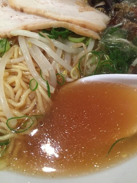 らーめん ミナミ☆十字星 - Wスープラーメン(700円)スープ