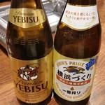 焼肉万衆 - 瓶ビール