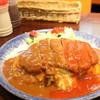 おしゃべりな亀 - 料理写真:単品 ロースポークカツおむらいす 880円(税込み)