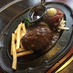 肉の万世 - ハンバーグと国産牛カットステーキランチ(1,980円)2017年5月