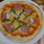 エシャロット - 雲仙ソーセージのピザ