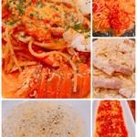 長崎イタリアン ババリストランテ - 伊勢海老のパスタ  ゴルゴンゾーラのリゾットポモドーロ カルボナーラ 里芋のニョッキ